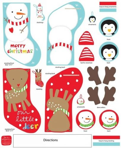 Studio E Huggable & Loveable Reindeer Snowman Holiday Stocking  4245/P